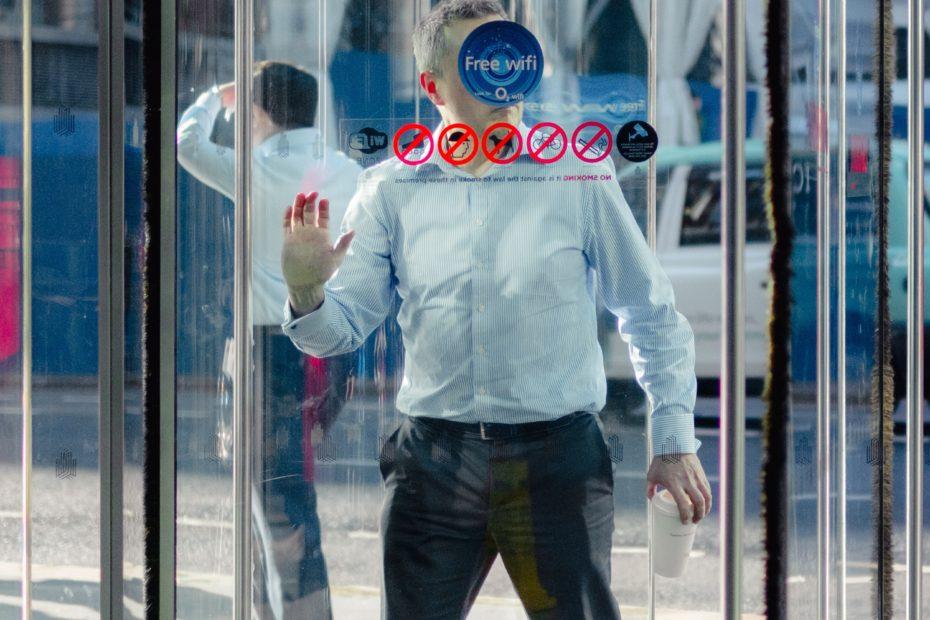 Employee revolving doors